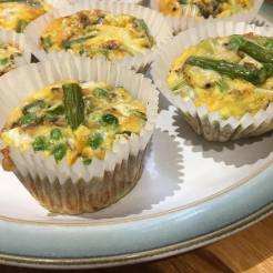 Asparagus, Pea and Mint Frittata Muffins